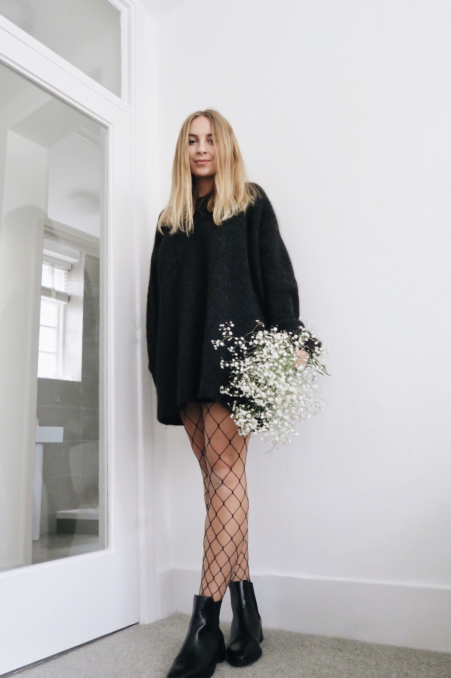Stolen Inspiration | New Zealand Fashion Blogger | H&M Mohair Chunky Jumper, Fishnet Tights, COS Boots