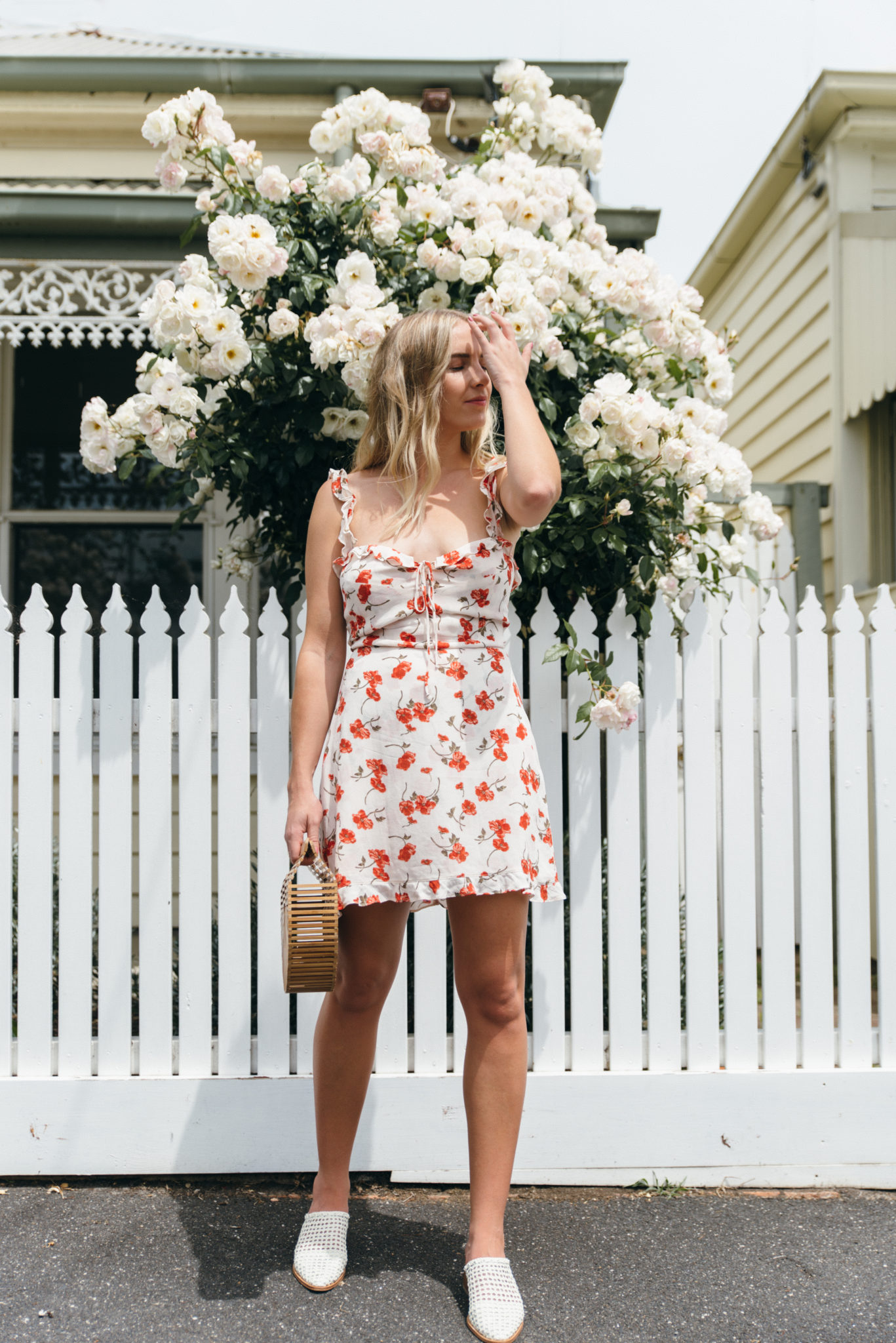 Reformation Floral Dress, RUBY Earrings, Cult Gaia Bag, Sol Sana Parker | StolenInspiration.com NZ Fashion Blog