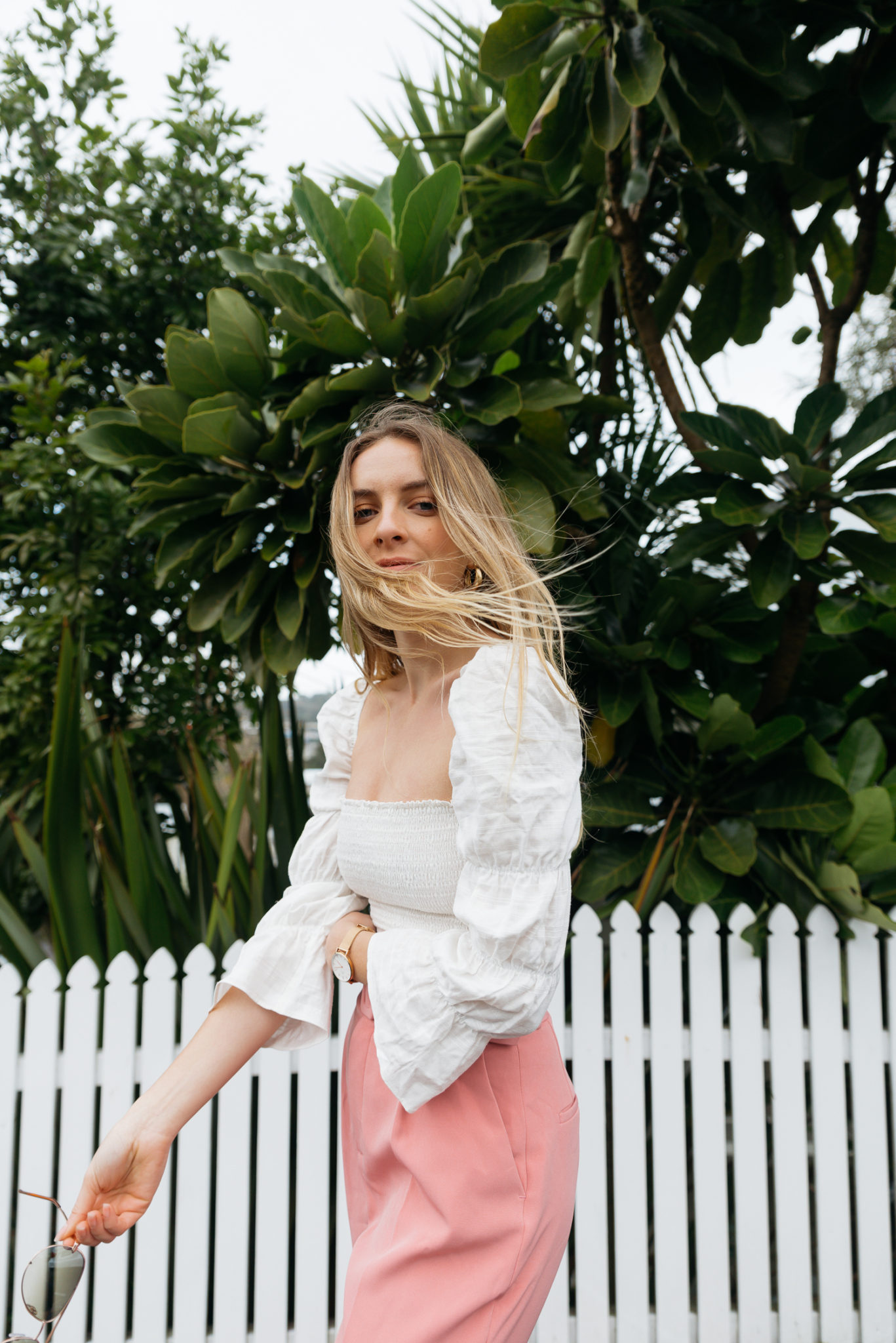 Reformation Maple Top, Zara Belted Trouser, Quay Desi Sunglasses, Sol Sana Parker | Stoleninspiration.com NZ Fashion & Travel Blogger
