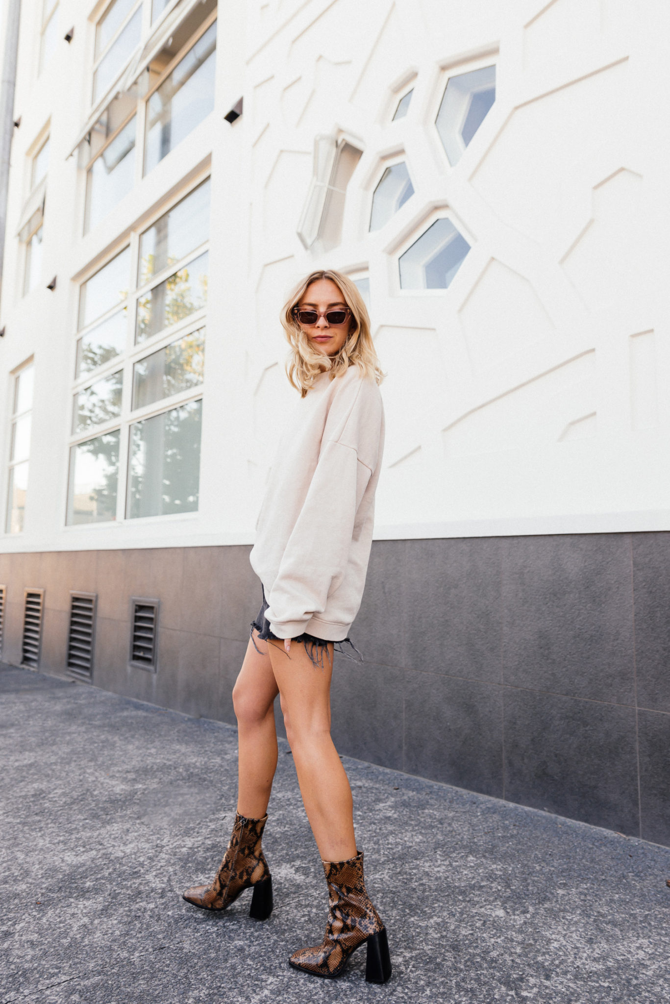 Hurricane Topshop Boots Snakeskin, BDG Denim Skirt, Pared Sunglasses | Stoleninspiration.com | NZ Fashion & Lifestyle Blogger1